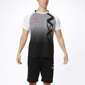 ミズノ N-XT Tシャツ ホワイト×ブラック Mizuno 32JA0210 01