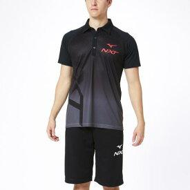 ミズノ N-XTポロシャツ ブラック×ブラック Mizuno 32JA0270 09