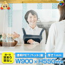 【窓の選択可!】飛沫防止 PET軽量パーテーション Lサイズ (レール付き) | H550 W900 飛沫 パーテーション パーティション 透明 PET …