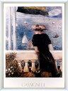 アートポスター 額入り絵画 カシニョール作 【レガッタ】 額縁(フレーム)・ヒモ付きですぐに飾れます