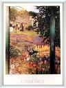 アートポスター 額入り絵画 カシニョール作 【夏の午後】 額縁(フレーム)・ヒモ付きですぐに飾れます