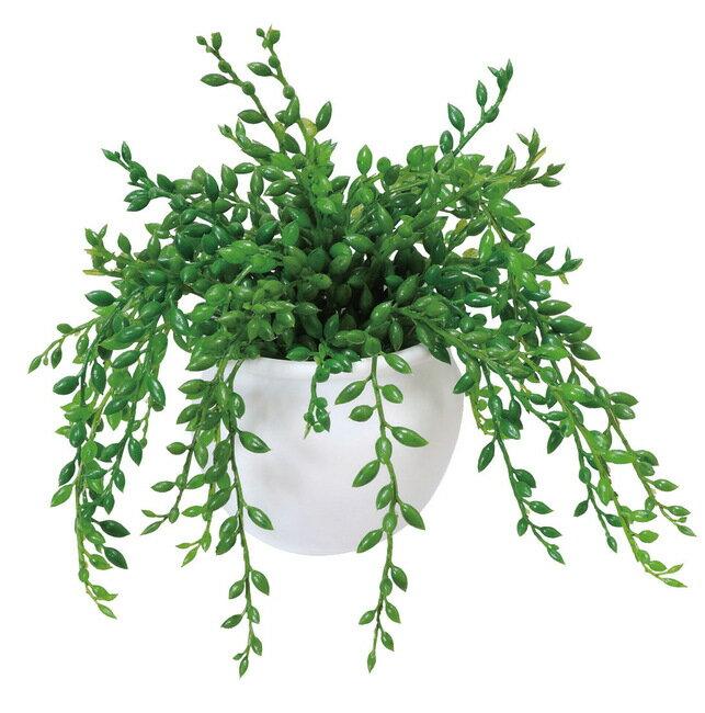 グリーンネックレス (人工観葉植物) 高さ15cm 光触媒 (店舗用品/光触媒 人工観葉植物・造花・フェイクグリーン/テーブル(卓上)用)