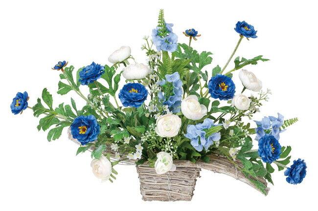 ワイドブルー (造花) 高さ33cm 光触媒 (店舗用品/光触媒 人工観葉植物・造花・フェイクグリーン/フロア(棚)向け)