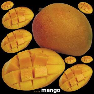 マンゴ 看板・ボード用イラストシール (W285×H285mm) (販促POP/看板・ボード用デコレーションシール/果物イラスト)