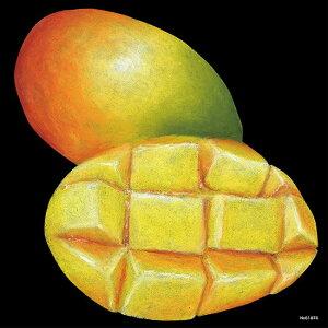 デコシール マンゴ サイズ:ミニ W100×H100 (販促POP/看板・ボード用デコレーションシール/果物イラスト)