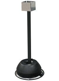 【送料無料♪】屋外用消毒液スタンド ブラック パネル無し(H710) (店舗用品/運営備品/アルコール消毒液ポンプスタンド(置き台))