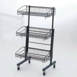 説明画像3:MDワゴン  黒2段タイプ(店舗用品/陳列什器/販売台・セールワゴン)