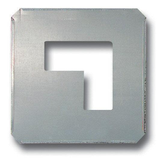 路面標識 道路標識 路面表示用品 吹付け用プレート 区切り 亜鉛メッキ板 240×240 (A) 路面表示用品 路面標識 道路標識
