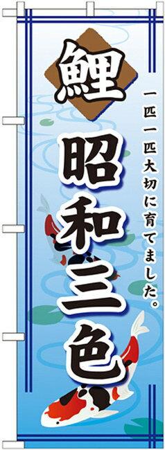 のぼり旗 鯉 昭和三色 のぼり ペットショップ/動物病院の販促にのぼり旗 のぼり