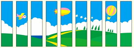 【送料無料♪】ワイドシート ピクニック日和 (安全用品・標識/安全標識/環境美化標識)