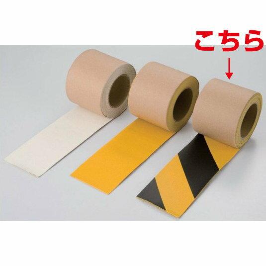 路面貼用テープ 合成ゴム 50mm幅×5m巻 カラー:トラ柄 (安全用品・標識/路面標識・道路標識/路面表示用品/路面貼用テープ・部材)