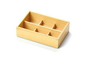 【送料無料♪】ひのき・おつまみ料理箱(6仕切) (料理箱・皿)