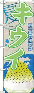 【送料無料♪】のぼり旗 キウイ (かき氷) のぼり お祭り/イベント/屋台/出店の販促にのぼり旗 (かきごおり/カキ氷) のぼり ネコポス便