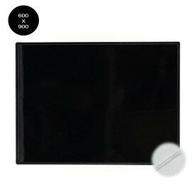 【送料無料】スタイリッシュなアルミフレーム BB-M-G スブラックボード600X900mm 壁掛け用縦横兼用 光沢板面 乾拭きで消せるゲルチョーク付