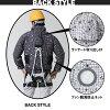 供供像空气调节一样的神服长袖子工作防寒夹克服093大容量电池+大马力迷安排/全面马具使用的/聚酯100%/保冷液使用的口袋