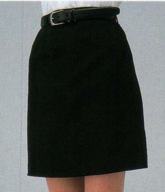 後ろはパンツ短めラップキュロット(45cm丈)ネイビー/ブラック アミューズメント、ホールスタッフユニフォームサービス業制服