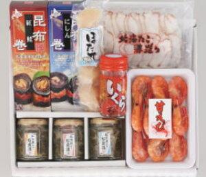 【送料無料】北海道の海の幸たっぷり!北のご馳走詰め合わせ(ほたて、いくら、甘エビ、たこさし昆布巻2種、松前漬3種)