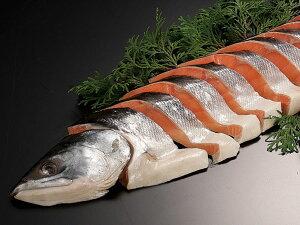 時鮭姿切り身半身 (1Kg) 送料無料 甘塩トキシラズ【沖縄県、一部離島は別途追加送料500円を加算させていただきます。】