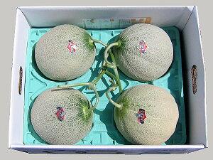 北海道夕張産 夕張メロン(共撰・優) 2kg×4玉送料無料 冷蔵配送出荷期間 6月下旬〜8月上旬