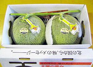 北海道産 富良野メロン 秀 特大2.1〜2.3kg×2玉送料無料出荷期間 7月上旬〜9月中旬