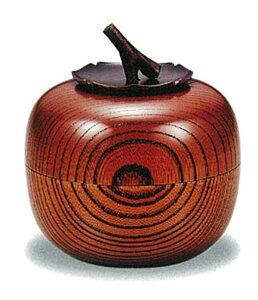 【木製漆器】欅 茶入 柿(容量100g)/漆器・おもてなし・茶道具・お茶会