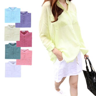 It is trip in autumn in the commuting plain fabric blouse shirt fashion adult blouse sea spring and summer like the lady's UV cut Shin pull thin sunscreen buran shirt long sleeves ultraviolet rays prevention long shirt blouse tops woman