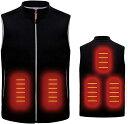 電熱 ベスト 加熱ベスト USB 加熱 男女兼用 臭くない 水洗いOK 電熱ジャケット Lサイズ 洗濯可能 3段温度調整 5箇所加…