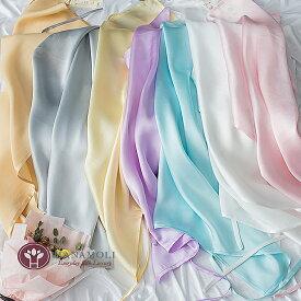 ■小ぶりの枕にも使える【シルクサテン19匁 ヒモ式まくらカバー】【7色】35cmから43X63cmまで対応
