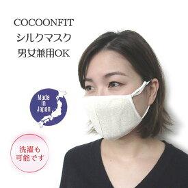 日本製 男女兼用 美肌シルクマスク・アジャスター付き・ お肌に優しい絹の立体マスク2重編み【洗えます】商品名がおやすみマスクですが普通にお使い頂けます。