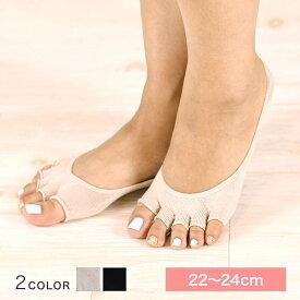 シルク 5本指フットカバー 靴下 指なし かかと付き かかと滑止め付 レディース 婦人 絹 冷え取り 敏感肌 天然素材 保湿 コベス 神戸生絲 日本製 SY305【ポスト投函便】