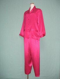 【あす楽】【送料無料】シルクパジャマ長袖【ローズピンク】シルク100%パジャマ大きいサイズ XL・XXL・XXXL《ブランド嬌奴》67種色柄S〜XXXL取り揃え《ブランド嬌奴》の商品については、製造中止により在庫限りになりました。