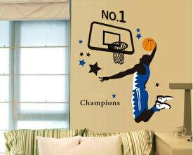 ポイントバック10%OFFc【Basketball Player】ウォールステッカー ウォール ステッカー シール 北欧 激安 自然 はがせる 壁紙 子供にも安心♪人/スポーツ/バスケ/バスケットボール