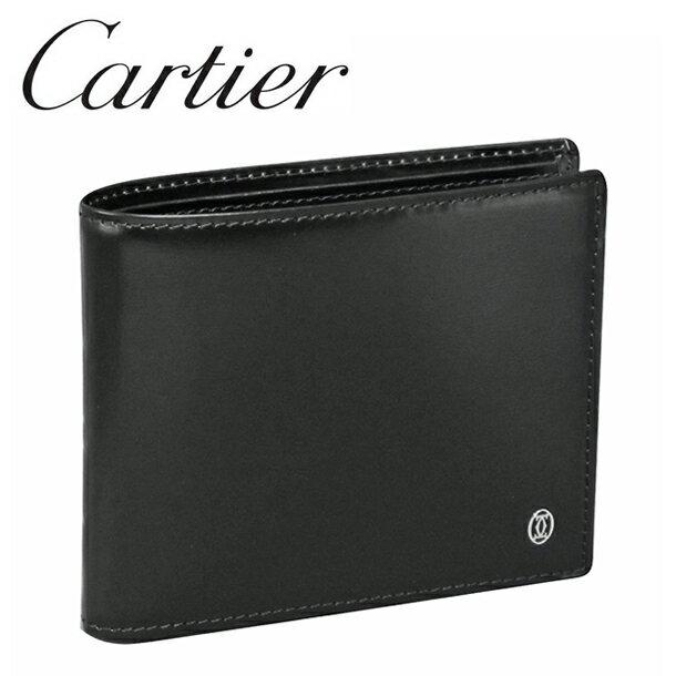 カルティエ 折り財布小銭入れなし ブラック パシャ ドゥ カルティエ L3000220