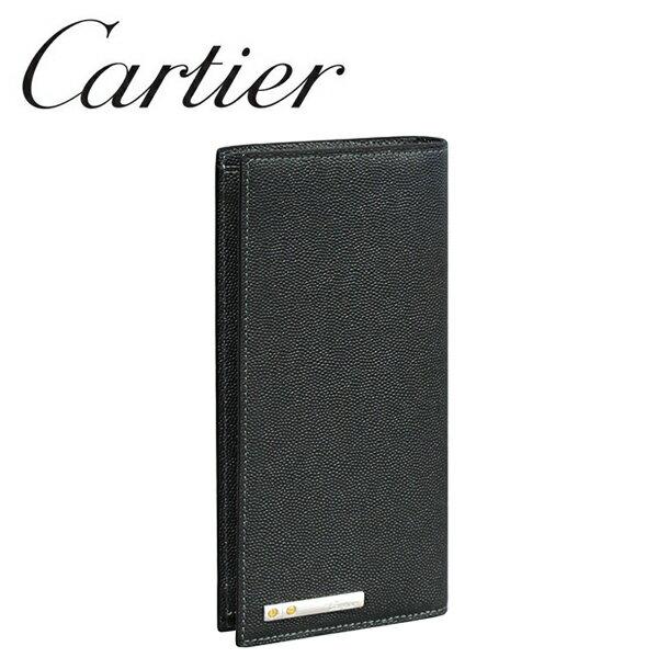 【新品】カルティエ 長財布(小銭入れなし) Cartier ブラック(ONYX) サントス ドゥ カルティエ L3000770 Cartier 【ラッピング無料】【送料無料】【RCP】