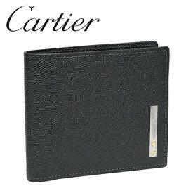 カルティエ 折り財布小銭入れなし ブラック サントス ドゥ カルティエ L3000773