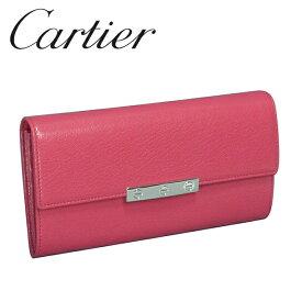カルティエ Cartier 長財布 レディース ピンク(FUCHSIA) ラブコレクション L3001376