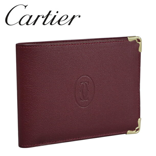 【新品】カルティエ 2つ折り財布(小銭入れなし) ボルドー マスト・ドゥ・カルティエ L3001356 Cartier 【ラッピング無料】【送料無料】【RCP】