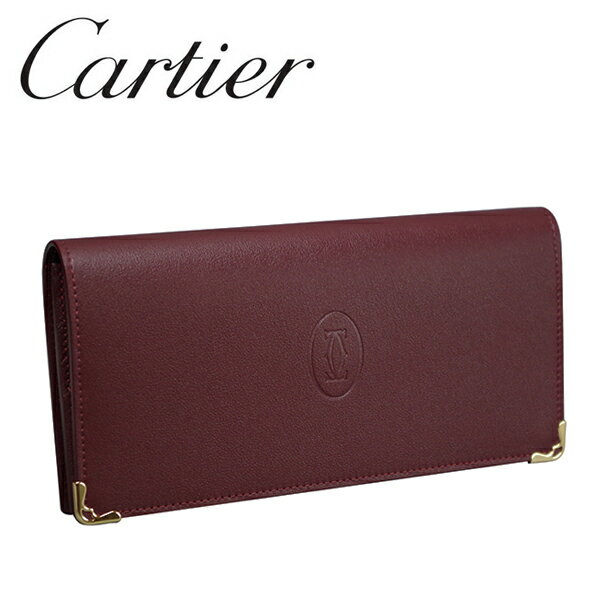 【新品】カルティエ 長財布小銭入れ付き Cartier ボルドー マスト・ドゥ・カルティエ L3001362 【ラッピング無料】【送料無料】【ラッピング無料】【RCP】
