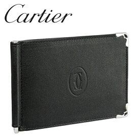 カルティエ 折り財布/マネークリップ ブラック×ボルドー マスト ドゥ カルティエ L3001371