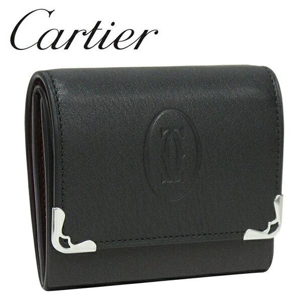 【新品】カルティエ 小銭入れ/コインケース Cartier ブラック/ボルドー バイカラー マスト・ドゥ・カルティエ L3001372 【ラッピング無料】【送料無料】