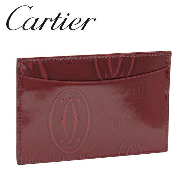 【新品】カルティエ パスケース カードケース [Cartier] ボルドー ハッピーバースデー L3001476 【ラッピング無料】【送料無料】【RCP】