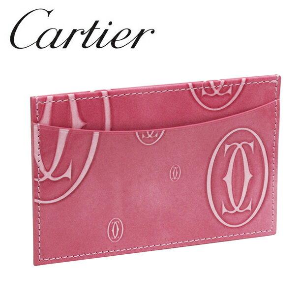 【新品】カルティエ パスケース カードケース [Cartier] Newピンク ハッピーバースデー L3001477 【ラッピング無料】【送料無料】【RCP】