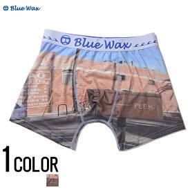 """アンダーウェア メンズ """"Blue Wax【ブルーワックス】Sign and brick ボクサーパンツ/全1色""""【あす楽対応】【ボクサーパンツ アンダーウェア 下着】 BITTER ビター プレゼント ギフト"""