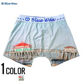 """アンダーウェア メンズ """"Blue Wax【ブルーワックス】A beachside restaurant ボクサーパンツ/全1色""""【あす楽対応】【ボクサーパンツ アンダーウェア 下着】 BITTER ビター プレゼント ギフト"""