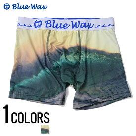 """アンダーウェア メンズ """"Blue Wax【ブルーワックス】Green wave ボクサーパンツ/全1色""""【あす楽対応】【アンダーウェア ボクサーパンツ サーフ メンズ BITTER ビター】 プレゼント ギフト"""