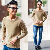 """All """"CavariA rib stitch crew neck long sleeves knit so / four-colored """""""