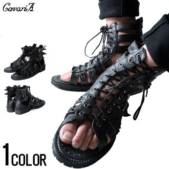 """CavariA stadsgladiator sandal /BLK (black)"" shoes Sandals high cut shoes men's shoes"