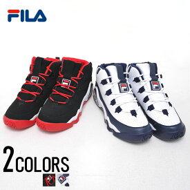 """靴 スニーカー メンズ バッシュ """"FILA【フィラ】GRANT HILL 1/全2色""""【あす楽対応】26cm 26.5cm 27cm 27.5cm ブラック ホワイト 黒 白 フィラ グラント・ヒル"""