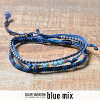"All ten colors of ""wakami3 strand anklet / """