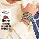 """ブレスレット アクセサリー メンズ """"wakami【ワカミ】アース7ストランドブレスレット/全11色""""【あす楽対応】【ブレス…"""
